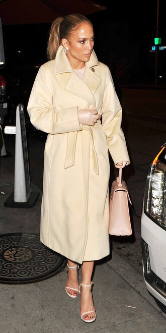 coat trench coat sandals spring outfits jennifer lopez celebrity nude