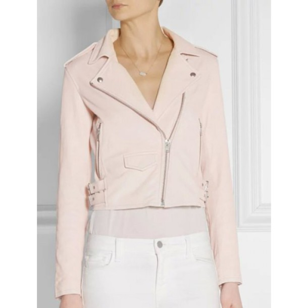 jacket leather jacket leather pu leather faux leather zip cream pastel pink pastel cute grunge classy stylish chic beige minimalist office outfits zip zipper jacket pink leather jacket pink leather v neck pastel grunge business casual casual chic casual streetwear streetstyle zaful pink jacket