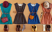 dress,shoes,bag,hat,jewelry,watch,necklace,socks,belt,vintage,cotton dress,cute,blue dress,summer dress,brouges,side bag,sunglasses,brown,peach,blue,pattern,belted,dress tumblr,abercrombie & fitch,hollister,short,hot,vintage dress,skater dress