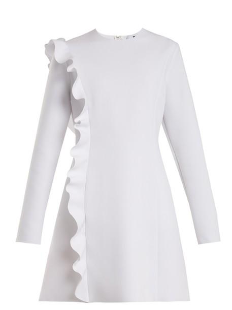 dress ruffle white
