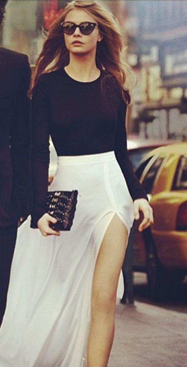 skirt maxi skirt with slits maxi skirt
