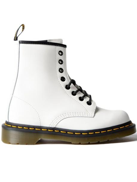 Dr. Martens lace white shoes