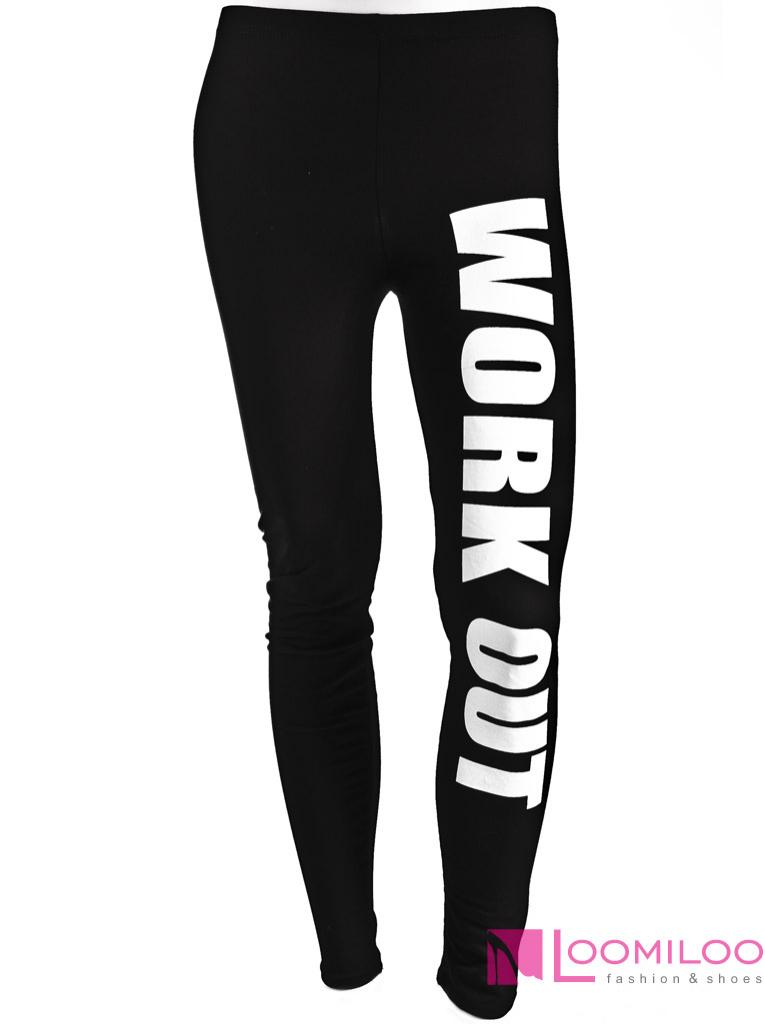 WORK OUT Leggings Leggins Sweat Pants Fitness Workout STATEMENT Blogger NEU NEU | eBay