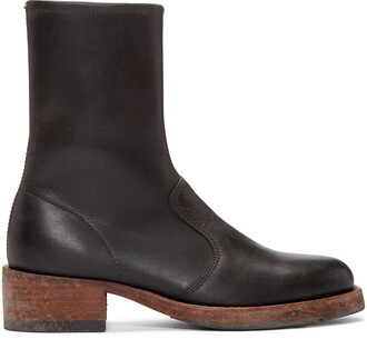 vintage boots black shoes