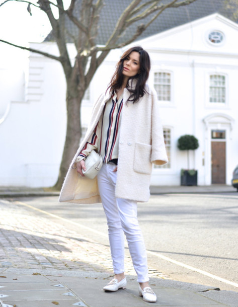 northern light jeans blouse coat shoes bag jewels