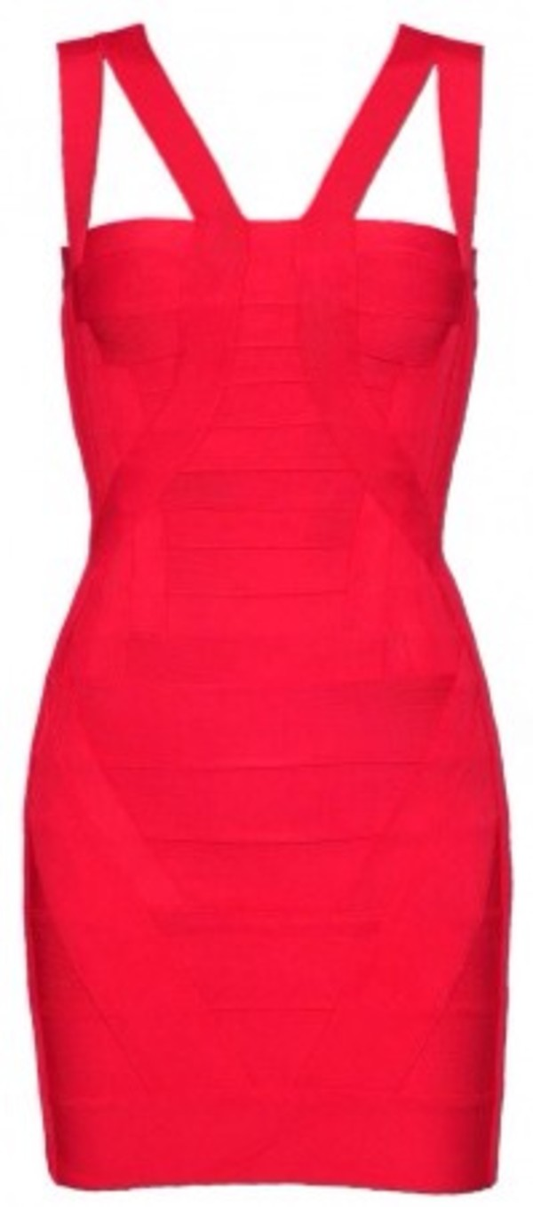 dress red dress bandage dress