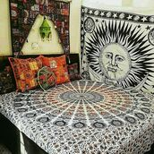home accessory,multimatecollection,indian tapestry,mandala tapesty,bohemian duvet cover,green mandala cushions