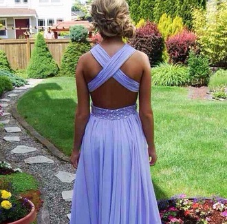 open back cross back prom prom dress purple dress open back prom dress