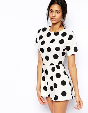 John Zack | John Zack Playsuit In Spot Print at ASOS