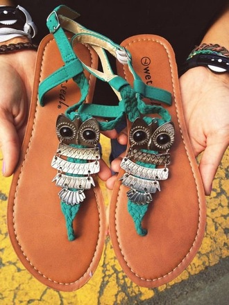 shoes owl mint