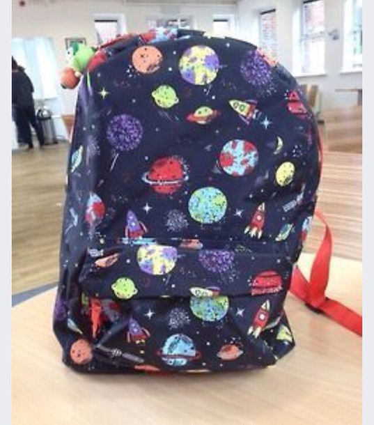 bag planets backpack make-up space backpack outer space