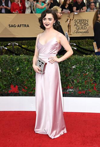 dress slit dress maisie williams gown prom dress red carpet dress sag awards satin satin dress maxi dress