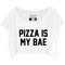 Pizza is my bae baggy crop