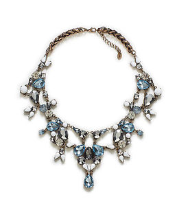 Zara rhinestone necklace (sold out)