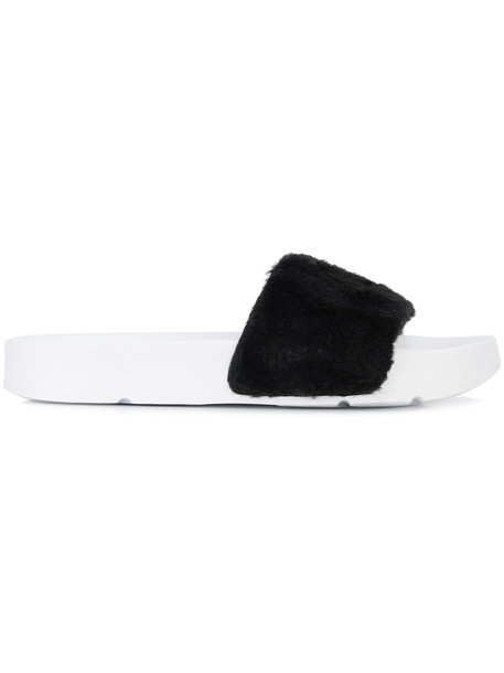 Baja East fur women black shoes