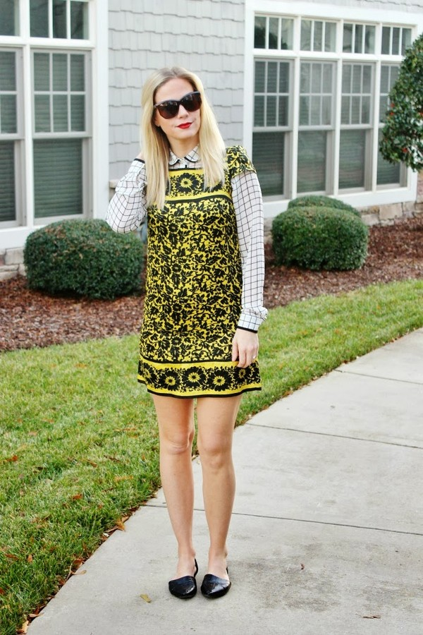 b soup blouse dress sunglasses