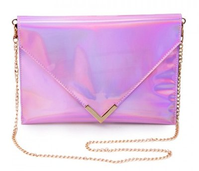 Hologram chain clutch purse · love, fashion struck ·