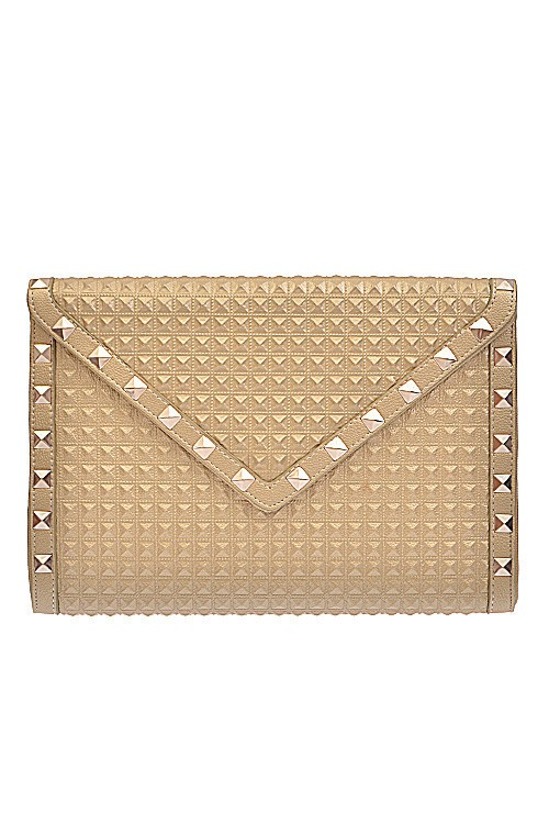 Gold Instaglam Studded Clutch