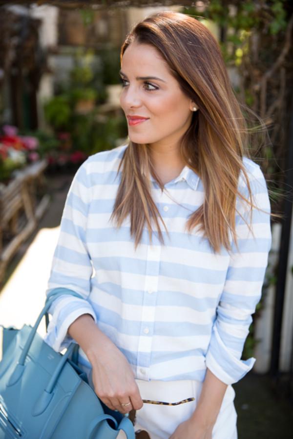 gal meets glam shirt pants shoes sunglasses bag