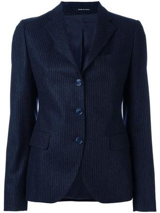 blazer women blue wool jacket