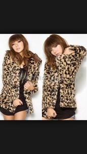 coat,leopard print,fur