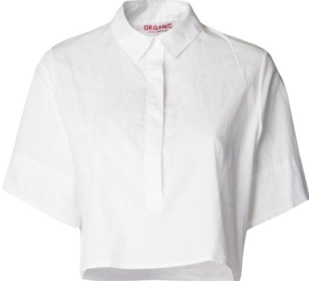 de4b89aa shirt, white, crop shirt, boyfriend shirt, button up, boxy shirt ...