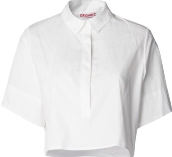 shirt white crop shirt boyfriend shirt button up boxy shirt