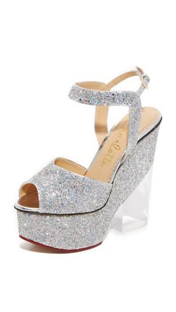 Charlotte Olympia Leandra Sandals - Fantasy Silver