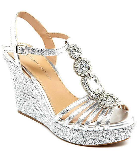b548e84996d Antonio Melani Ritah Jeweled T-Strap Wedges