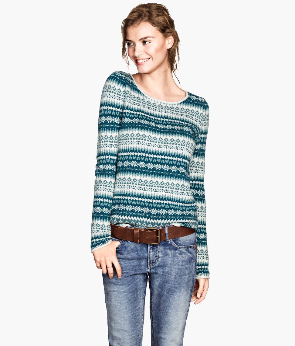 H&M Jacquard-knit Sweater $34.95