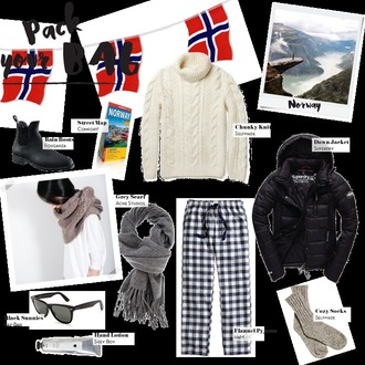 by annna blogger sweater shoes jacket scarf pants socks sunglasses