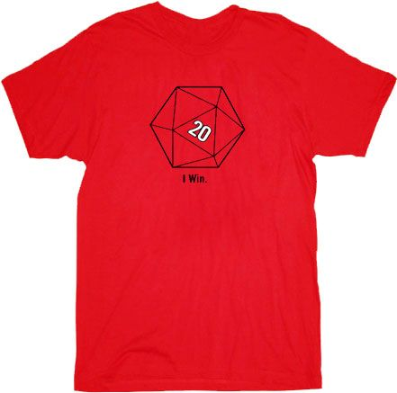 The Big Bang Theory Sheldon Cooper 20 Sided Dice D20 Adult Red T-shirt - Shirts Sheldon Has Worn - | TV Store Online