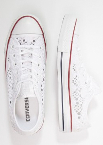 shoes converse low top chuck taylor all stars white lace