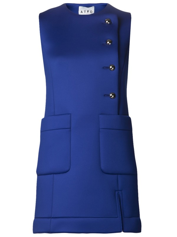 dress atto blue dress world exclusive sleeveless dress