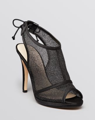 Caparros Open Toe Evening Platform Booties - Xanto Mesh | Bloomingdale's