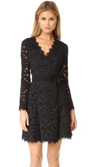 dress wrap dress navy black
