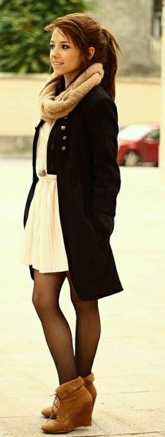 dress fall dress cream dress flouncing  dress