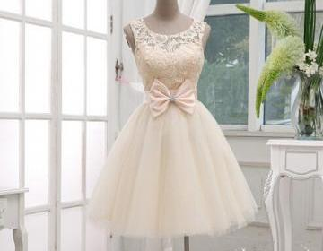 Gorgeous champagne lace ball gown k..