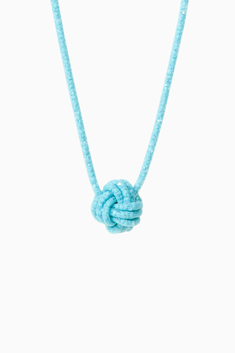 Totokaelo - Peppercotton - Small Knot Necklace - Turquoise