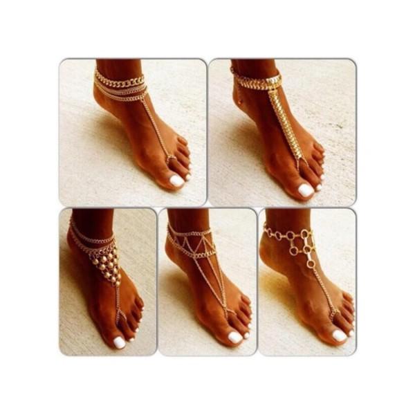 socks ankle jewelry