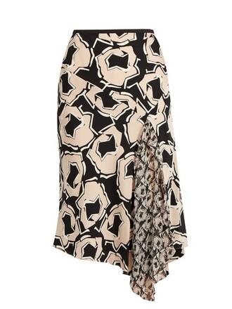 skirt black beige