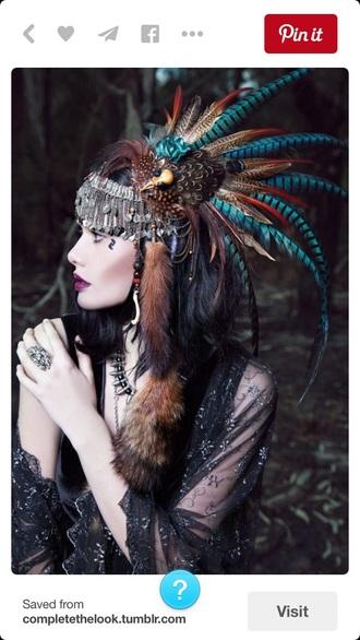 hair accessory headpiec chief hat girl hair jewlery