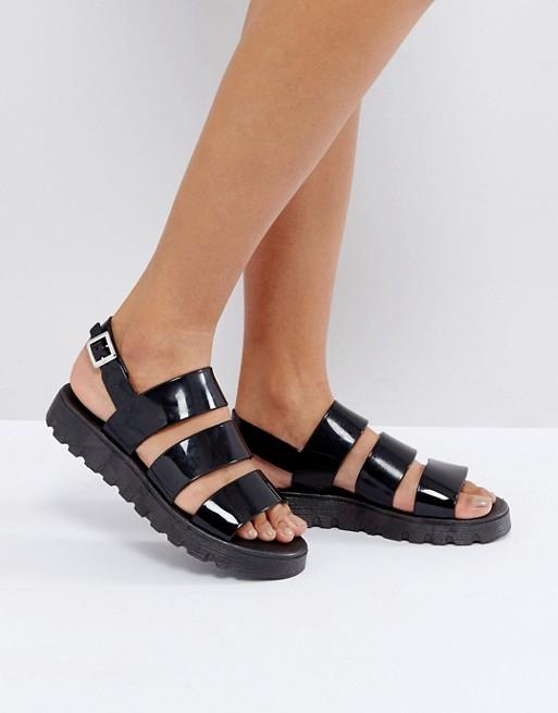 ce7f891ab6ac ASOS FROU Jelly Flat Sandals at asos.com