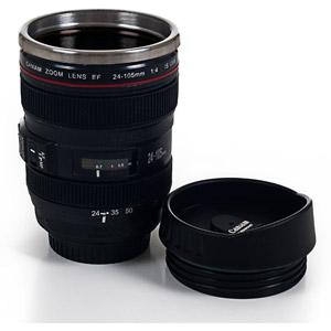 Walmart: Whetstone Camera Lens Coffee Mug with Lid
