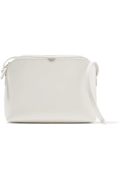 bag shoulder bag pouch leather white