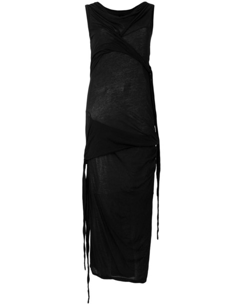 Rick Owens DRKSHDW dress women cotton black