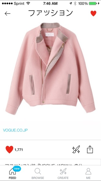 jacket light pink