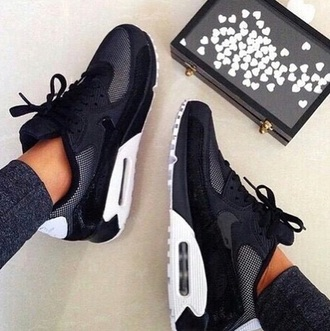 shoes black white air max nike air