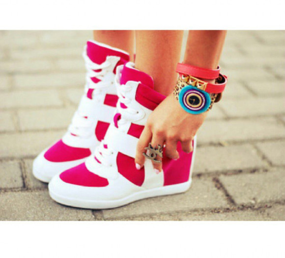 shoes sneakers high high heels
