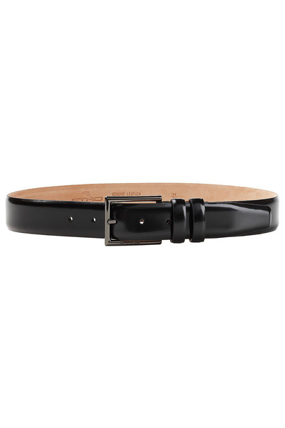 Etro Leather Belt  in black